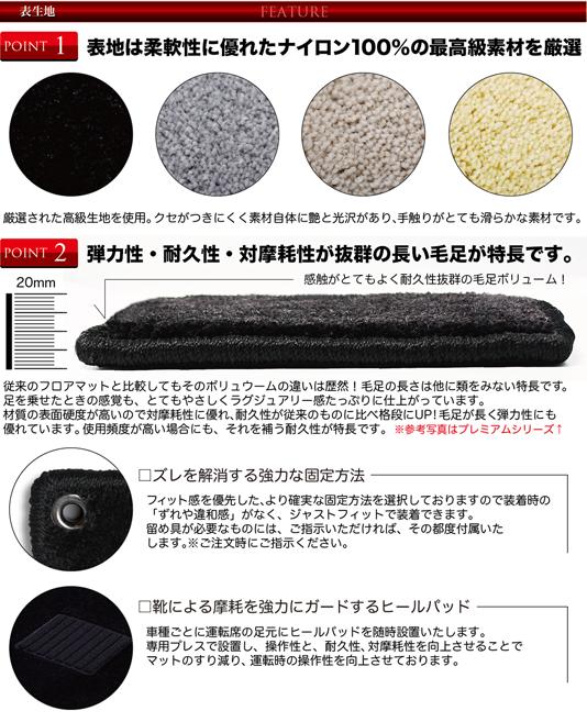 表生地 生地は柔軟性に優れたナイロン100%の最高級素材を厳選。弾力性・耐久性・耐摩耗性が抜群の長い毛足が特長です